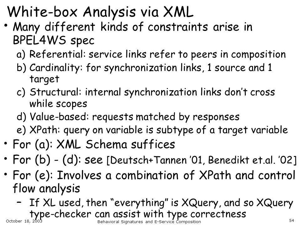 White-box Analysis via XML