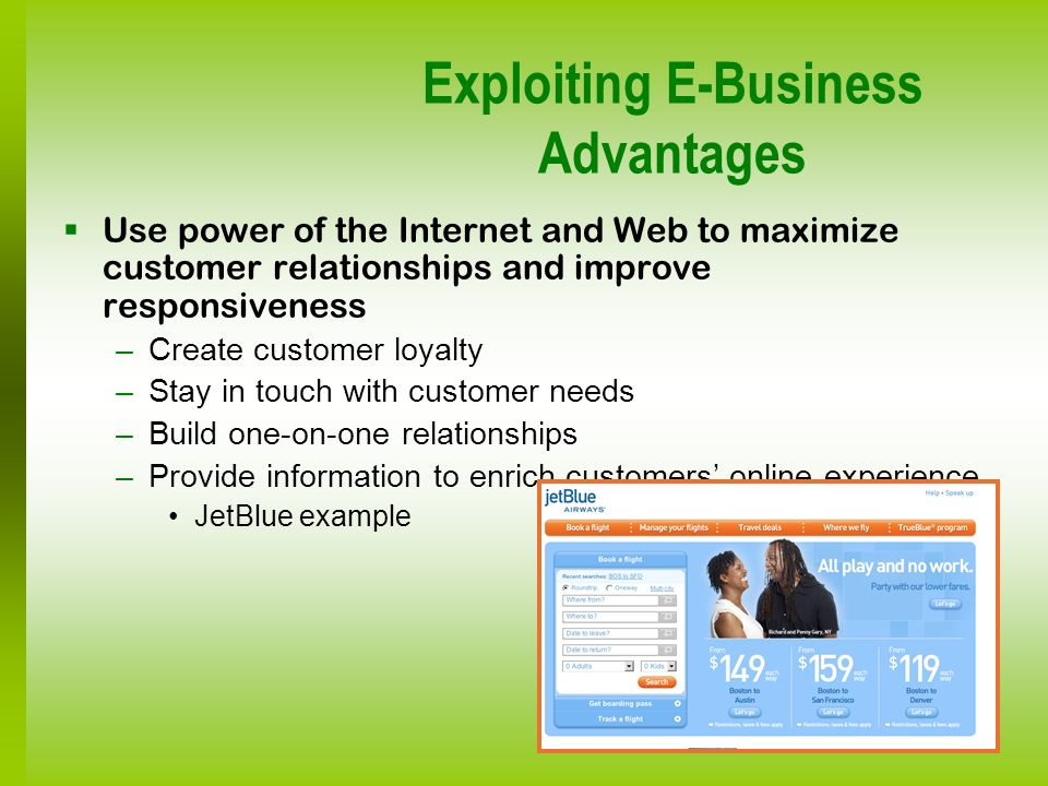 Exploiting E-Business Advantages