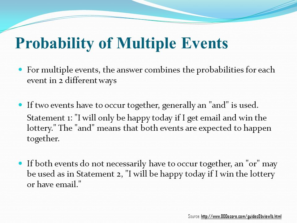 Probability of Multiple Events