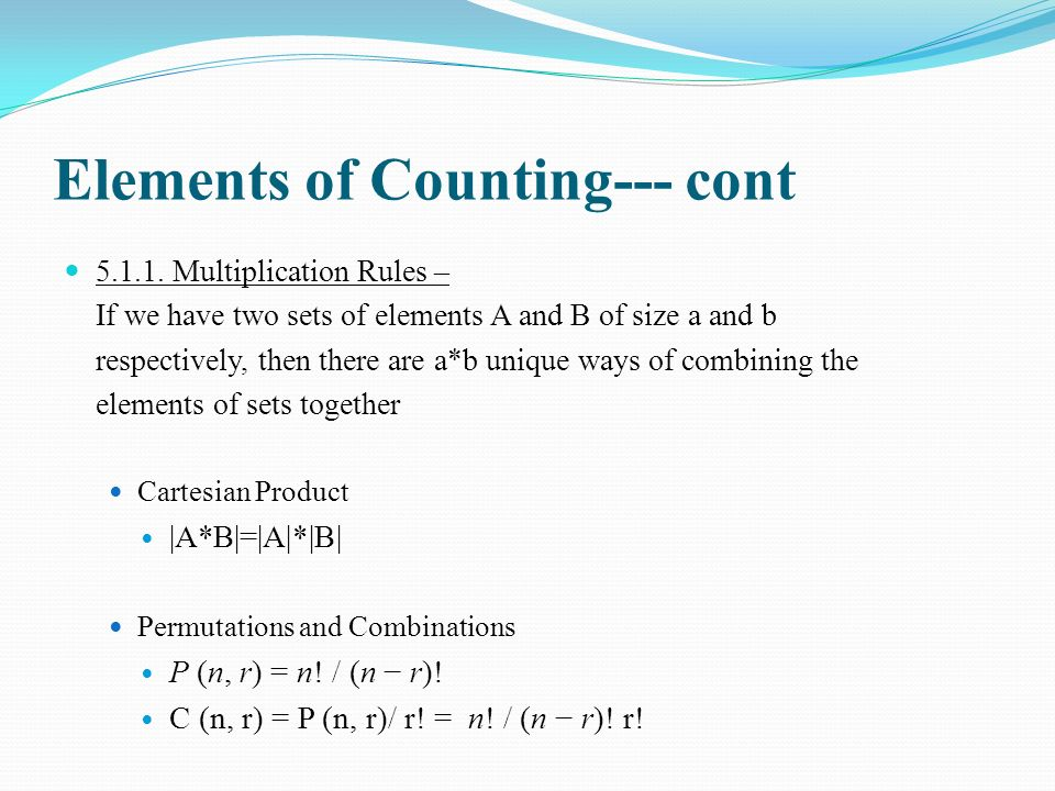 Elements of Counting--- cont