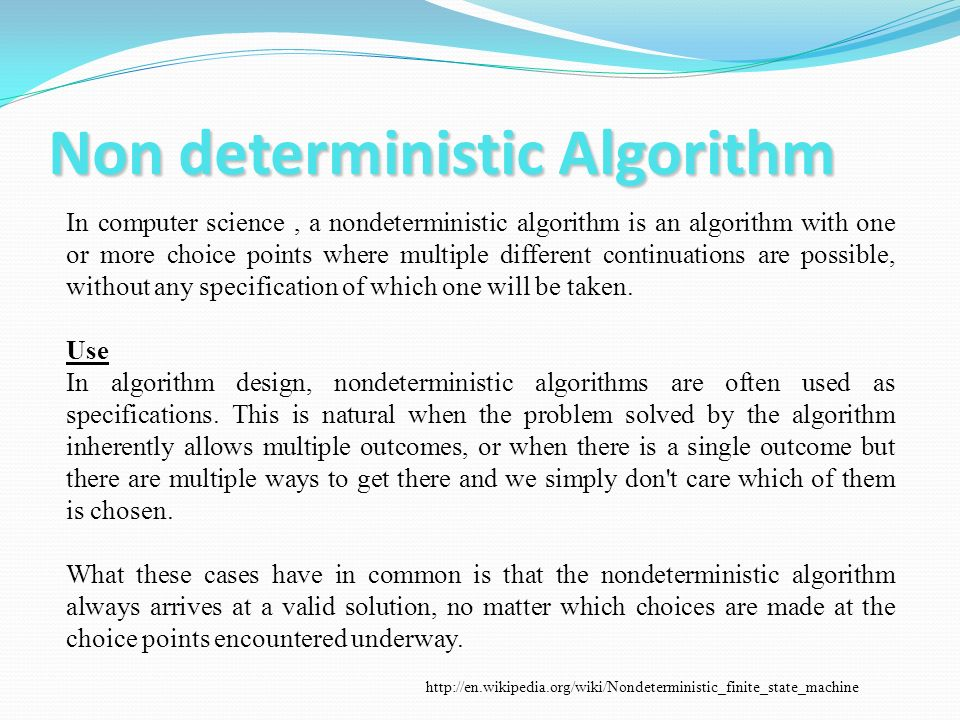 Non deterministic Algorithm