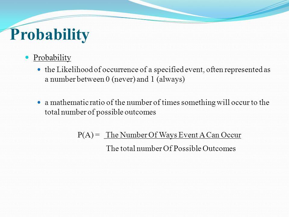 Probability Probability