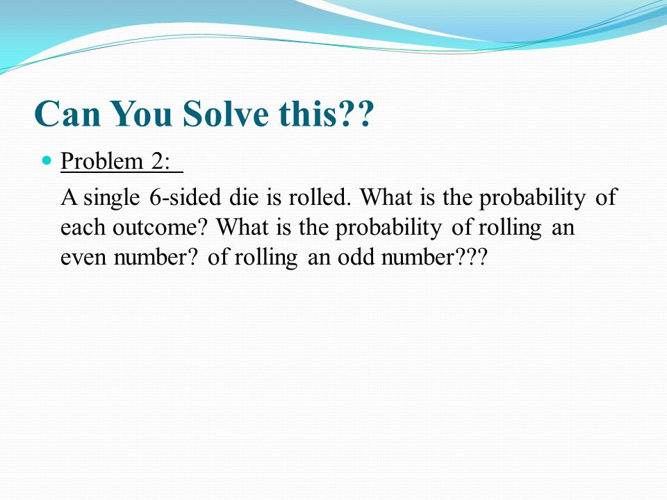 Can You Solve this Problem 2: