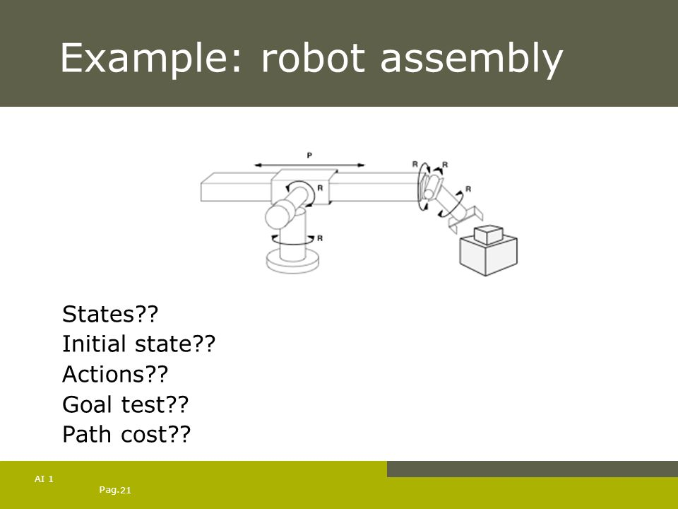 Example: robot assembly