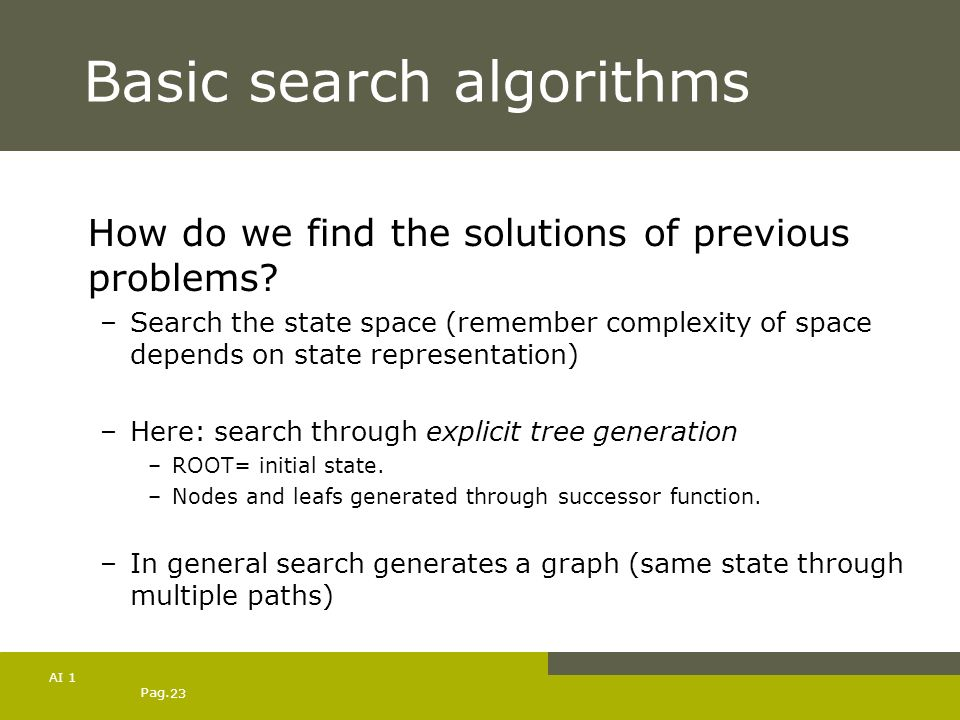 Basic search algorithms