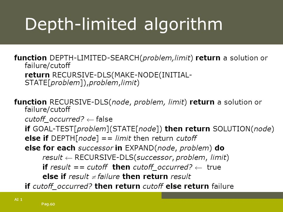 Depth-limited algorithm