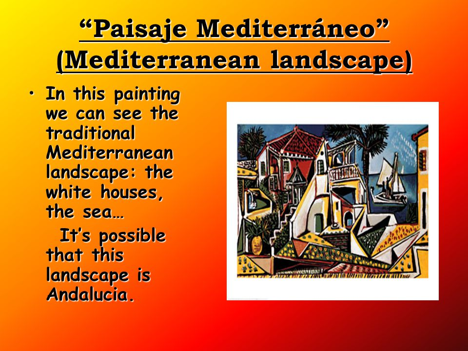 Paisaje Mediterráneo (Mediterranean landscape)