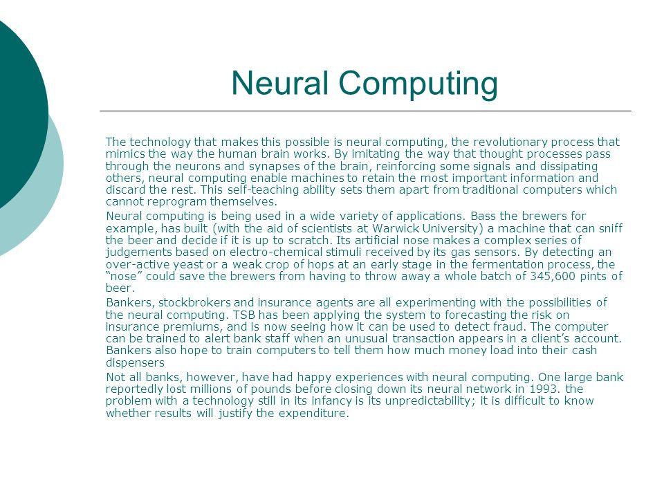 Neural Computing