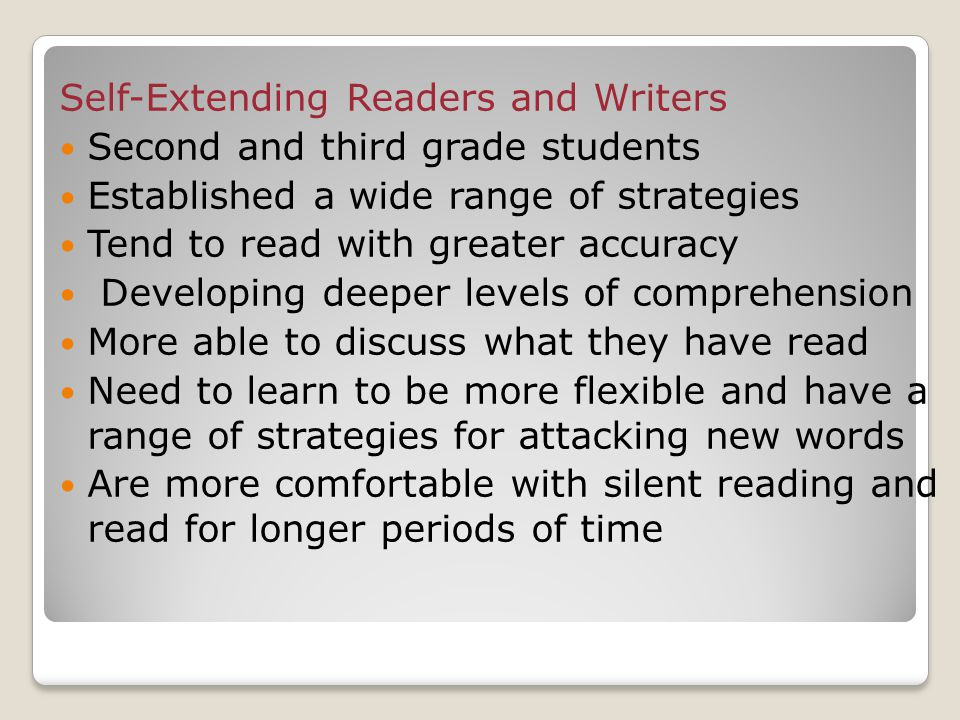 Self-Extending Readers and Writers