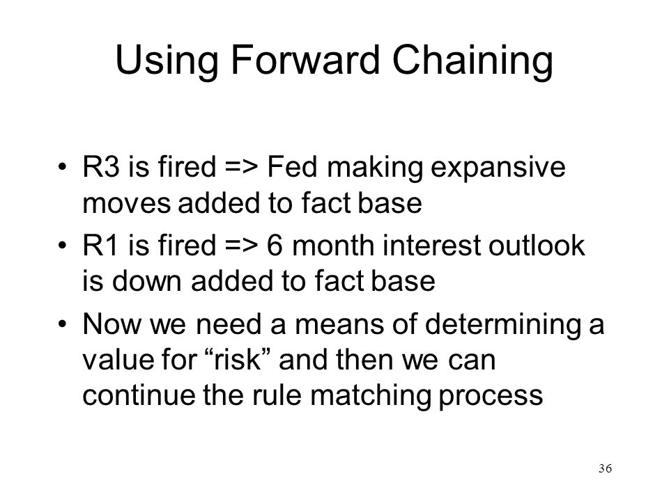 Using Forward Chaining