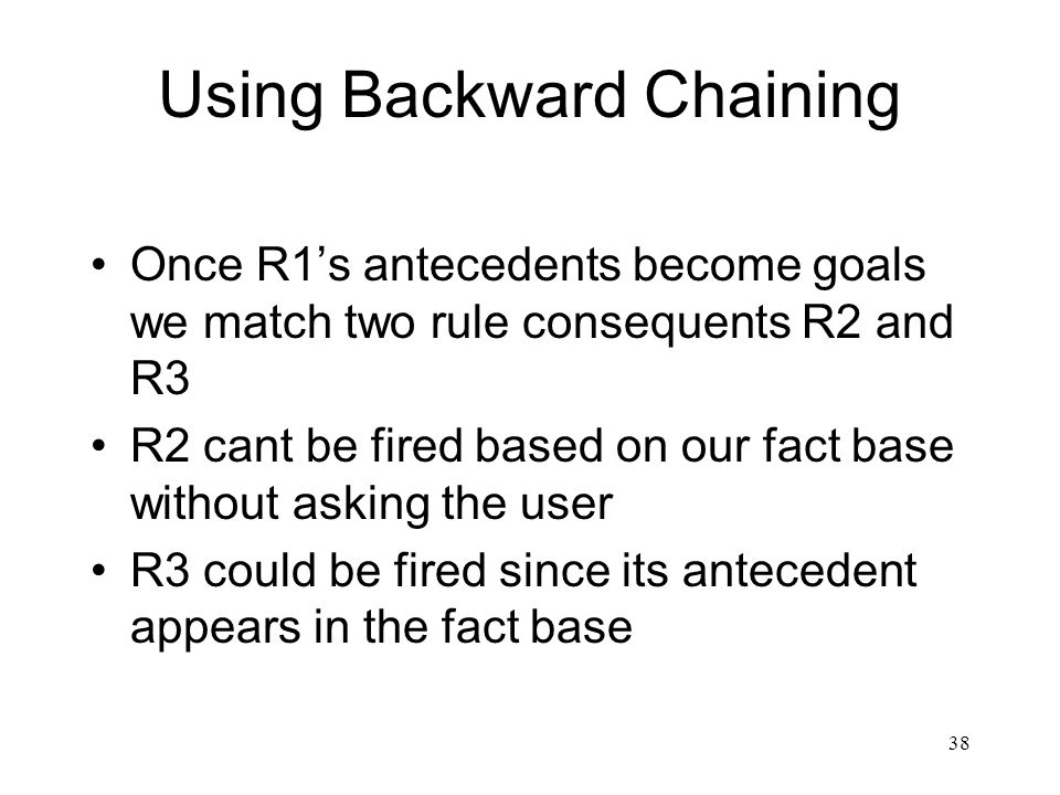 Using Backward Chaining