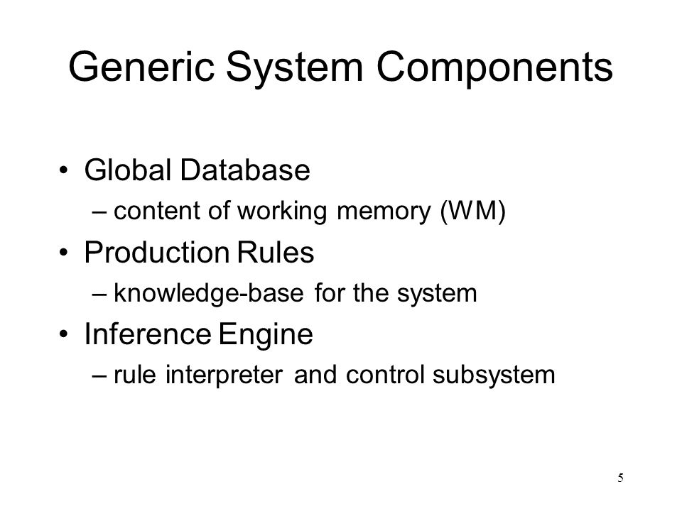 Generic System Components