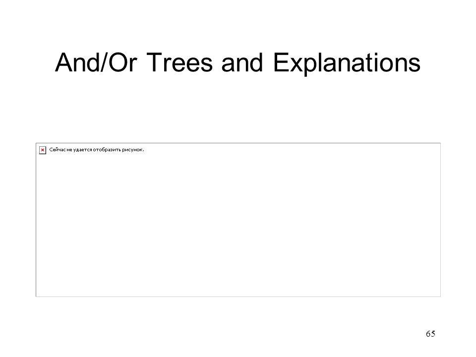 And/Or Trees and Explanations