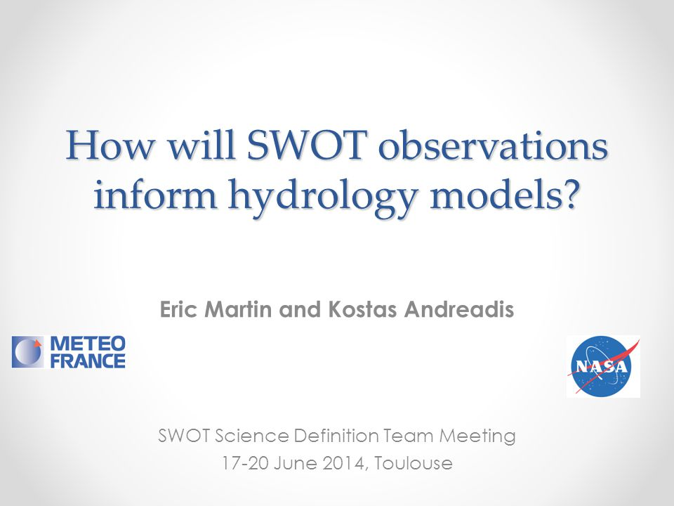 How will SWOT observations inform hydrology models