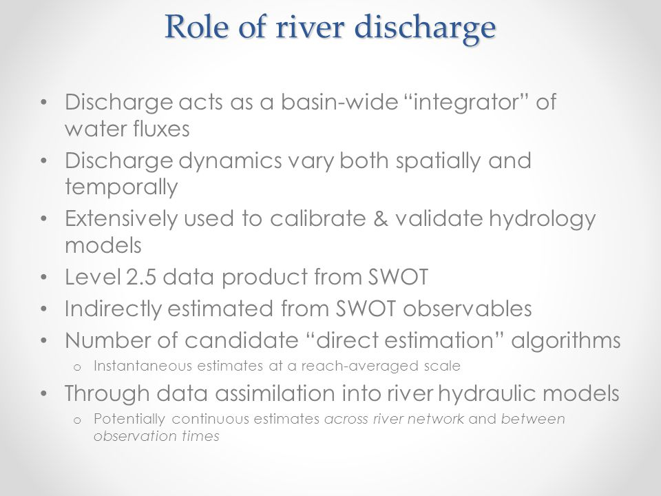Role of river discharge