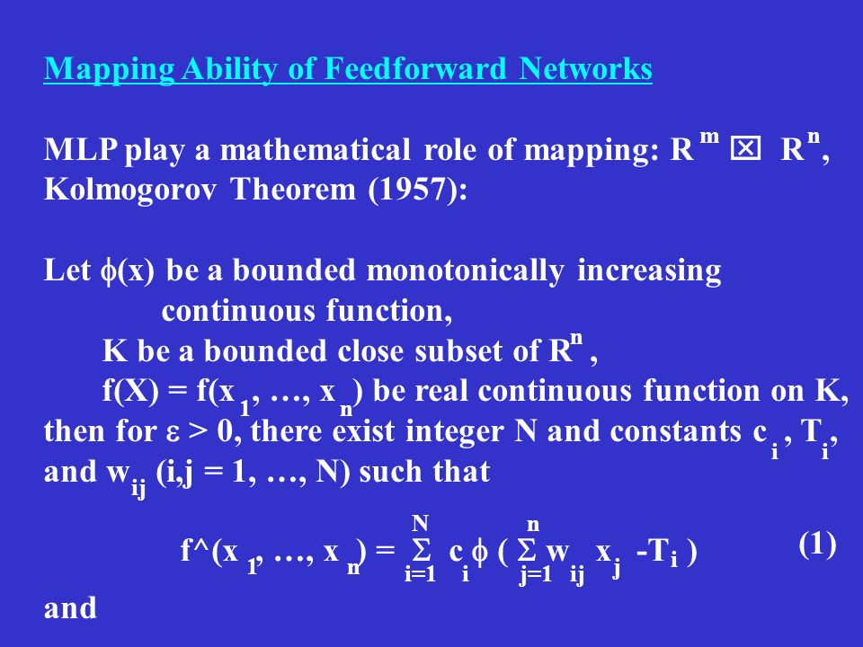Mapping Ability of Feedforward Networks