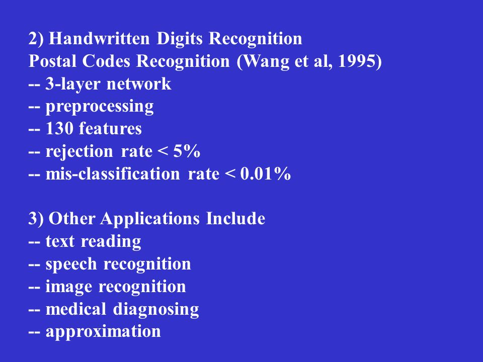 2) Handwritten Digits Recognition