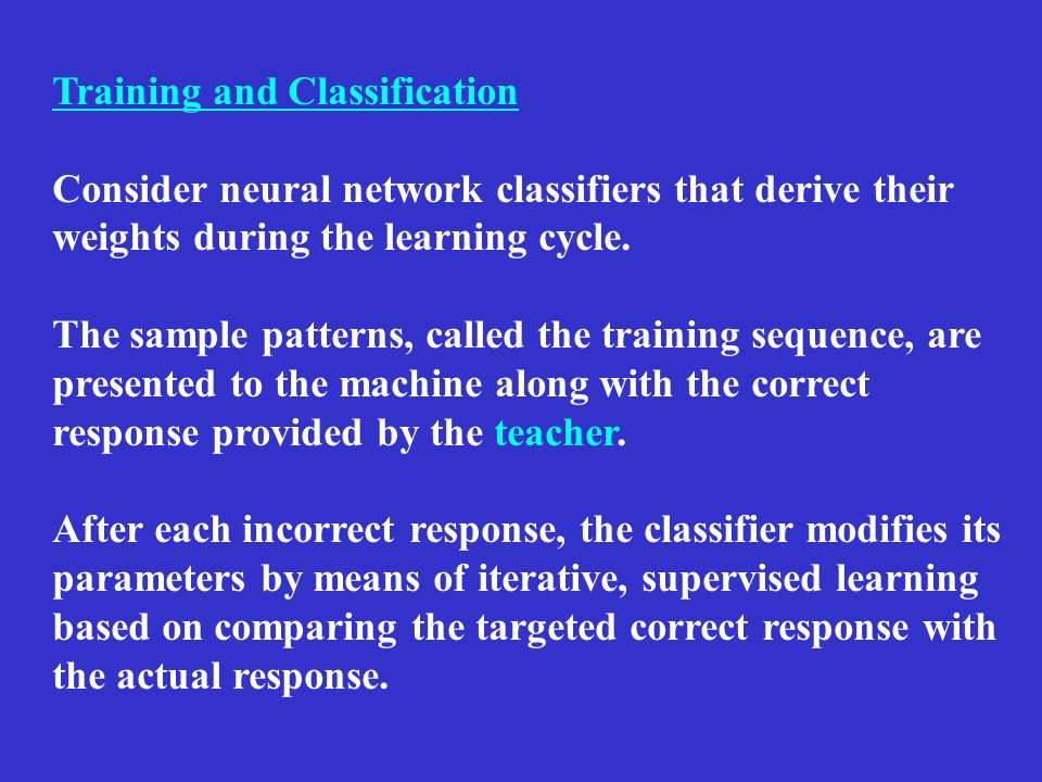 Training and Classification