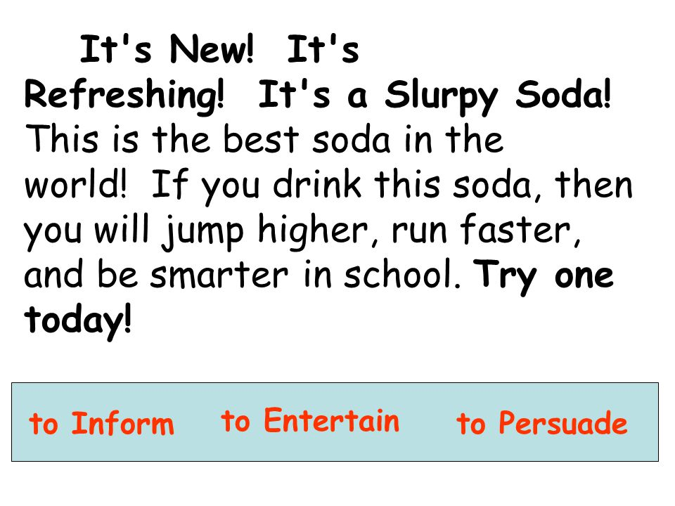 It s New. It s Refreshing. It s a Slurpy Soda