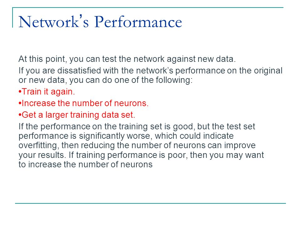 Network's Performance