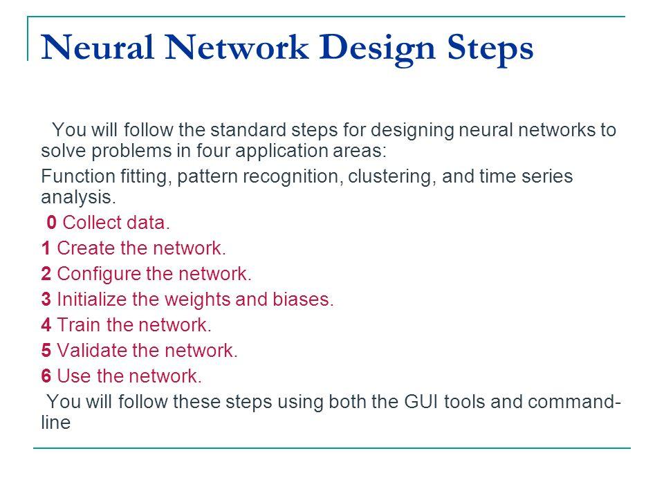 Neural Network Design Steps