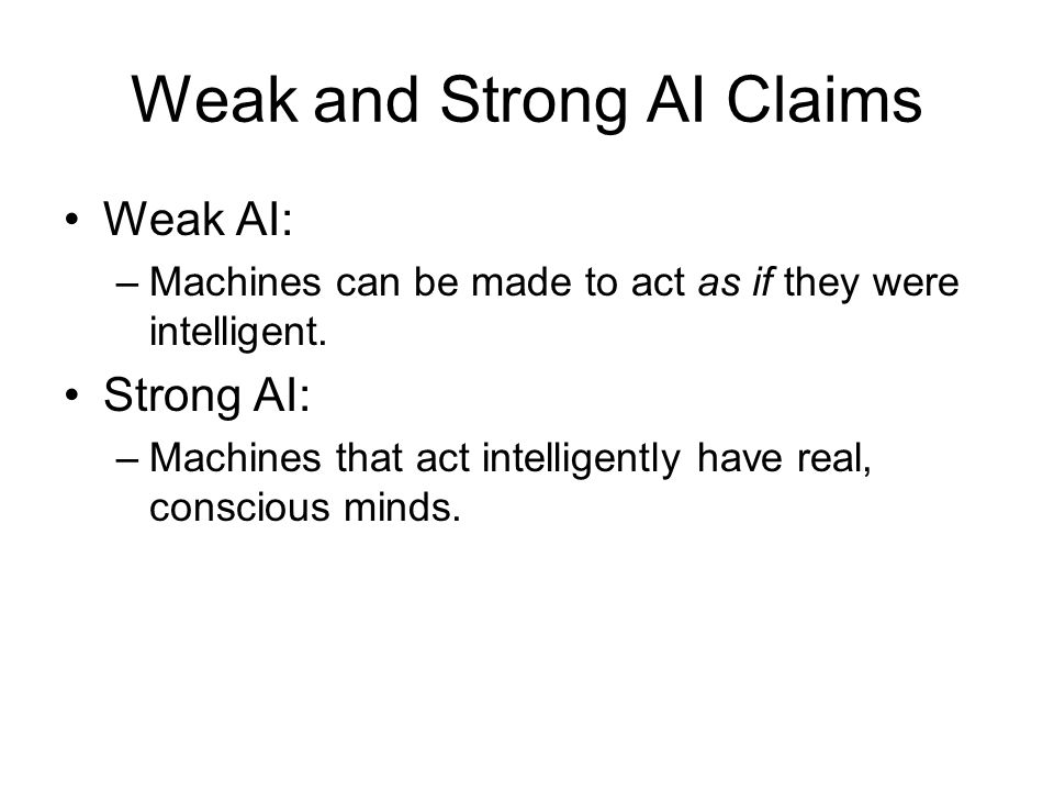 Weak and Strong AI Claims