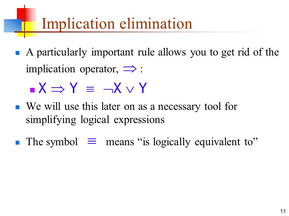 Implication elimination