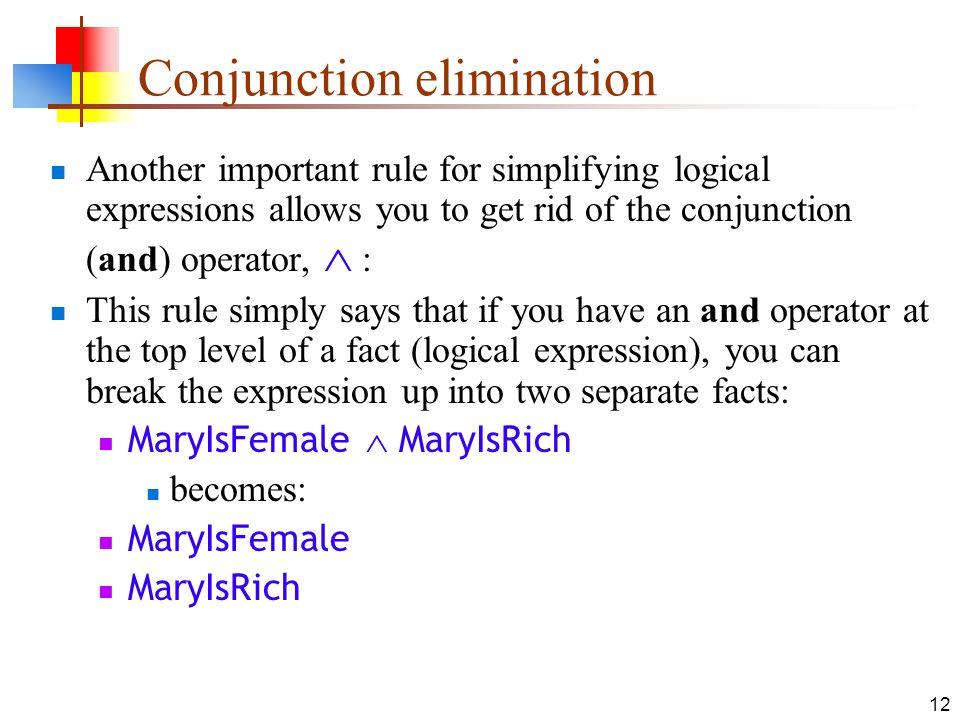 Conjunction elimination