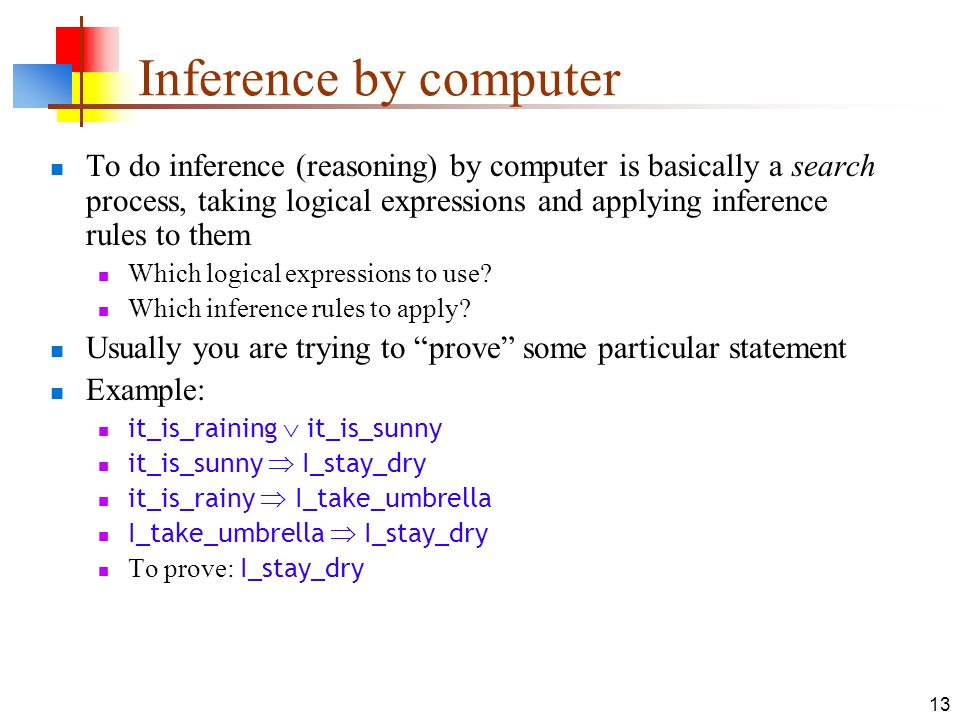 Inference by computer
