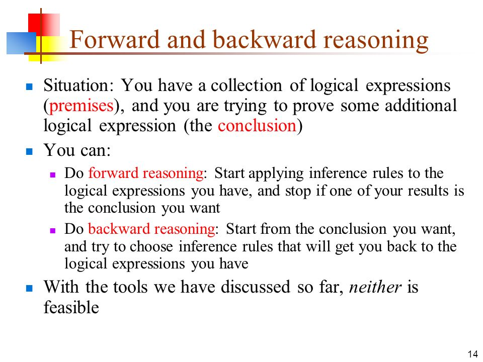 Forward and backward reasoning
