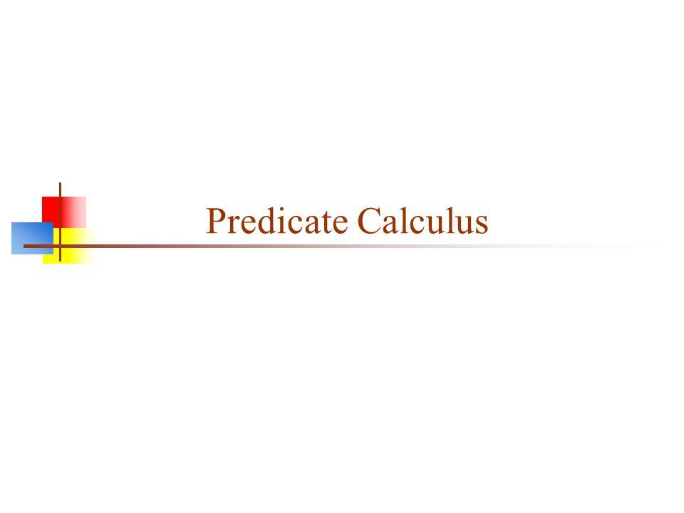 Predicate Calculus