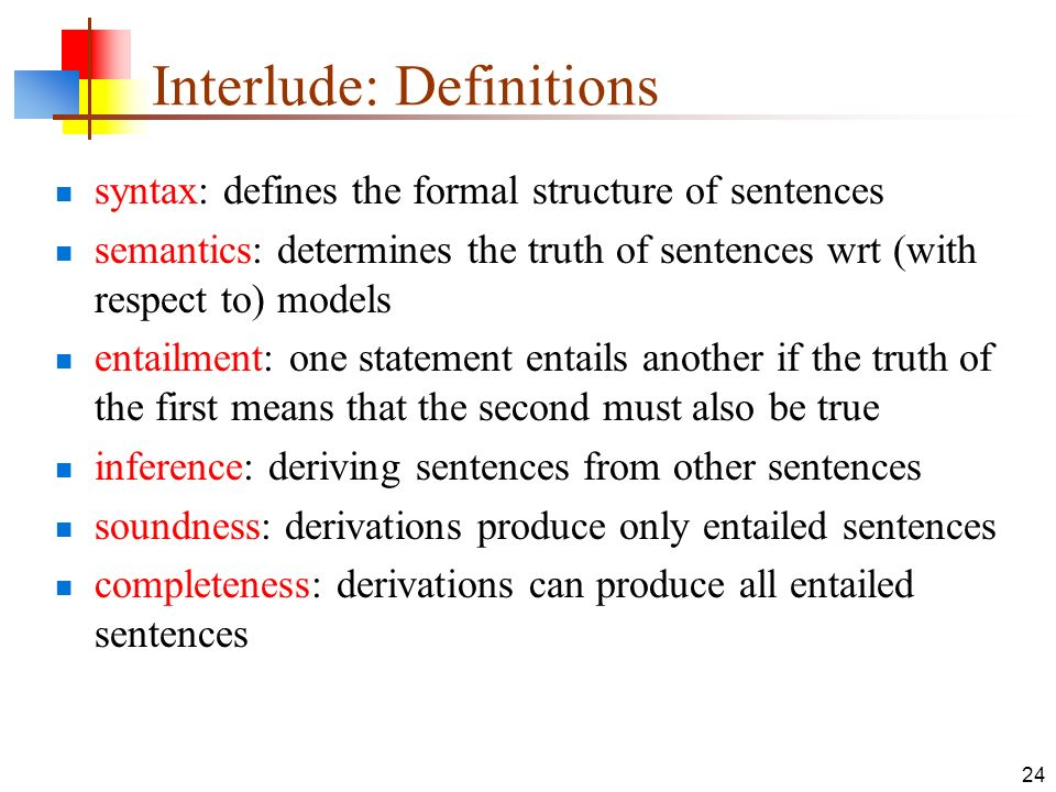 Interlude: Definitions