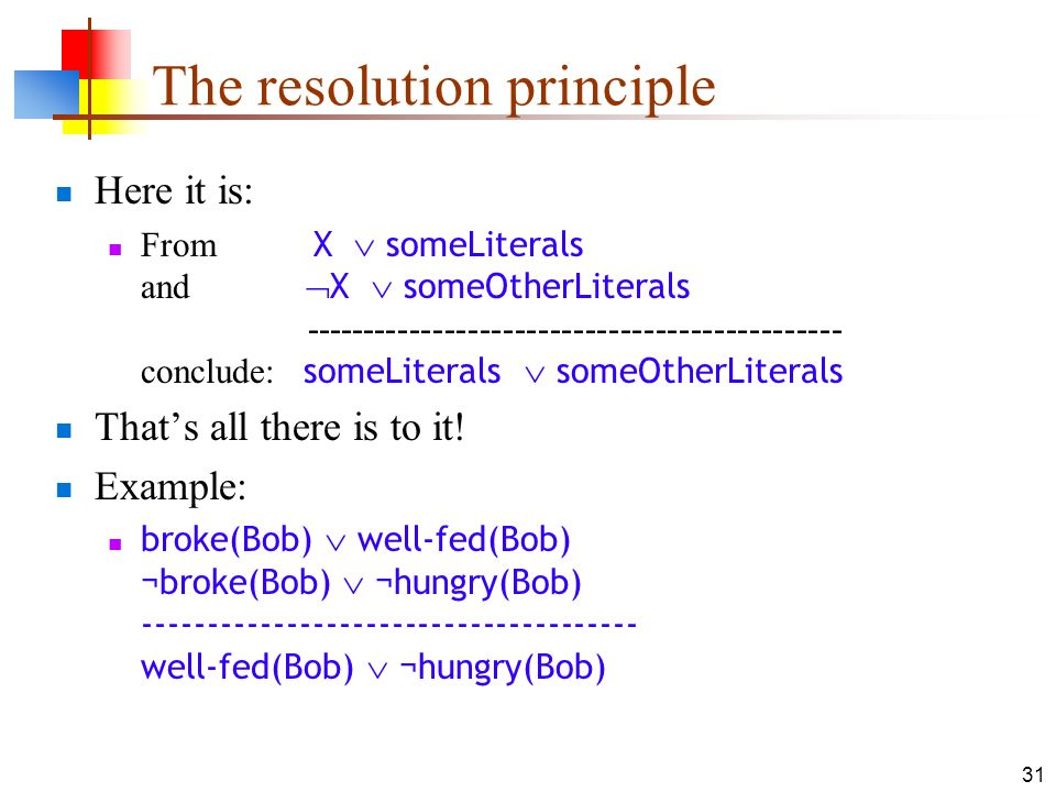 The resolution principle
