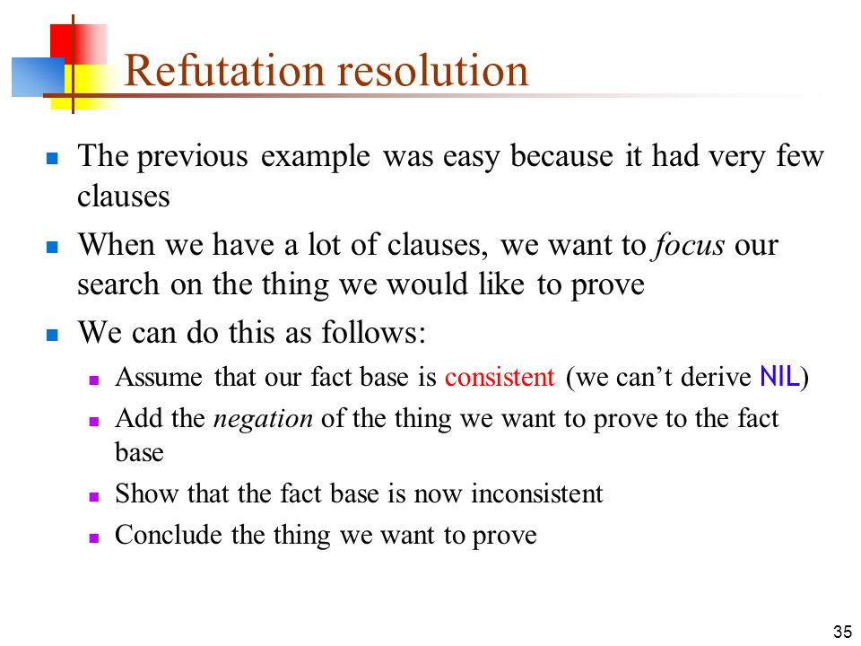 Refutation resolution