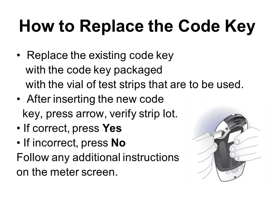 How to Replace the Code Key