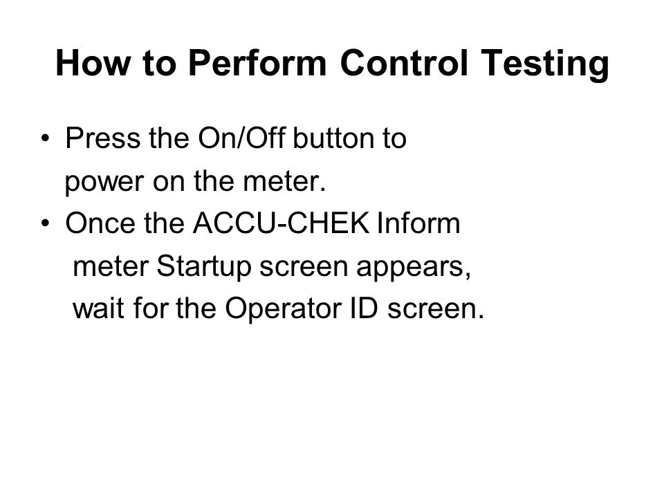 How to Perform Control Testing