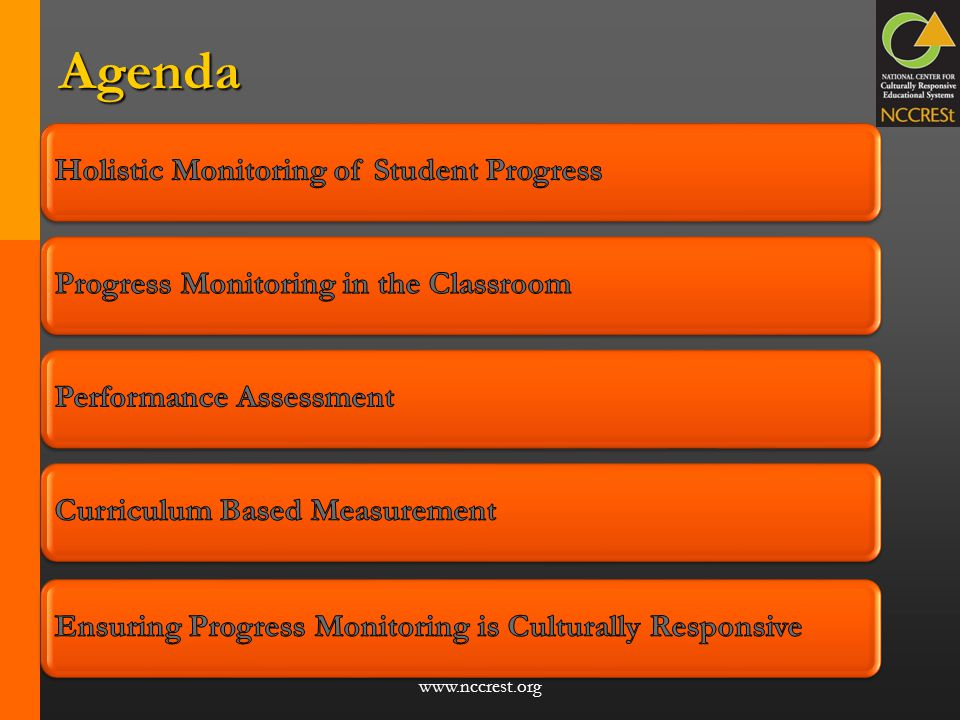 Agenda Ensuring Progress Monitoring is Culturally Responsive