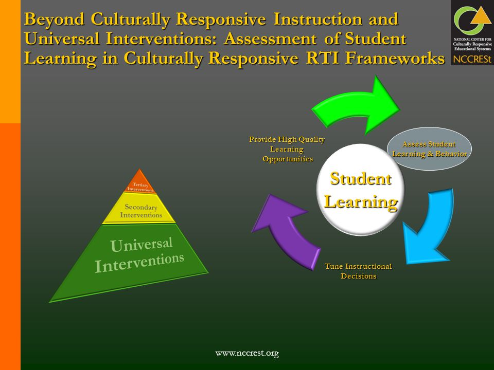 Beyond Culturally Responsive Instruction and Universal Interventions: Assessment of Student Learning in Culturally Responsive RTI Frameworks