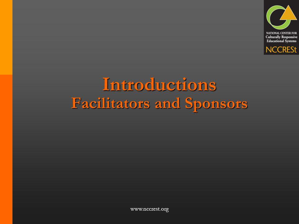 Introductions Facilitators and Sponsors
