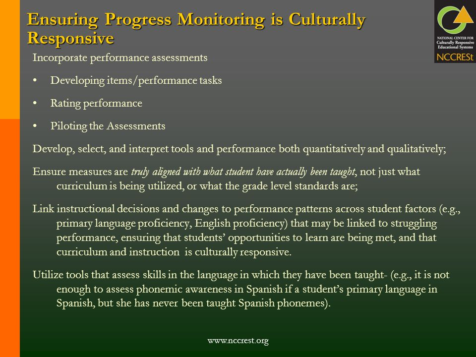 Ensuring Progress Monitoring is Culturally Responsive