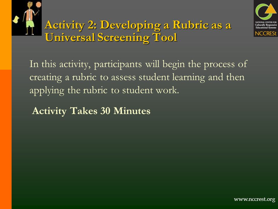 Activity 2: Developing a Rubric as a Universal Screening Tool