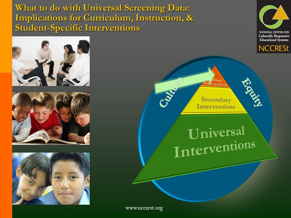 What to do with Universal Screening Data: Implications for Curriculum, Instruction, & Student-Specific Interventions