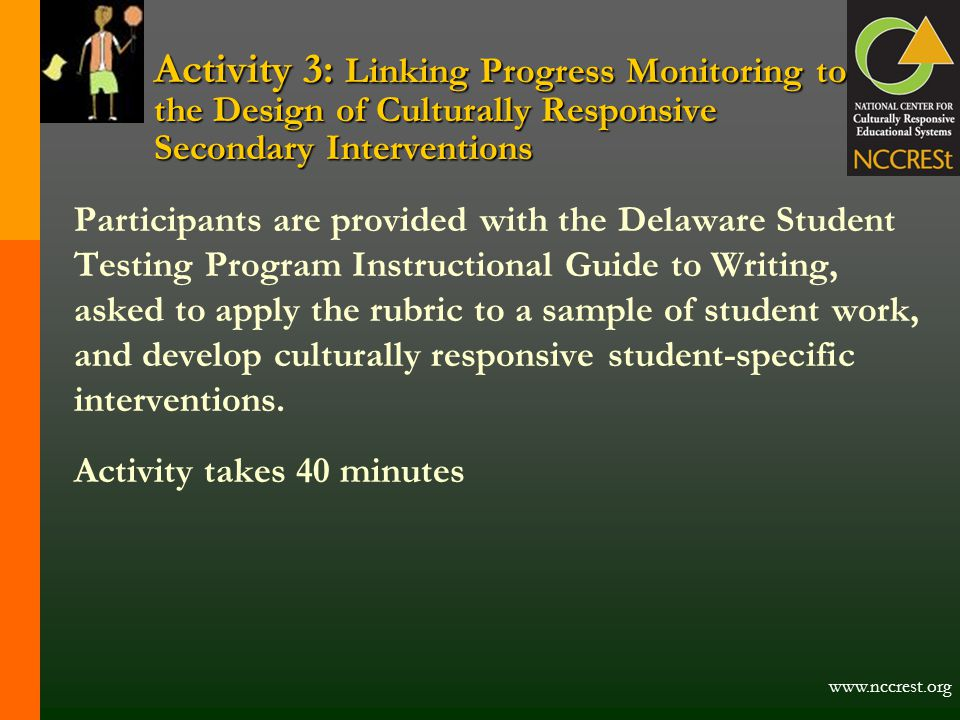 Activity 3: Linking Progress Monitoring to the Design of Culturally Responsive Secondary Interventions