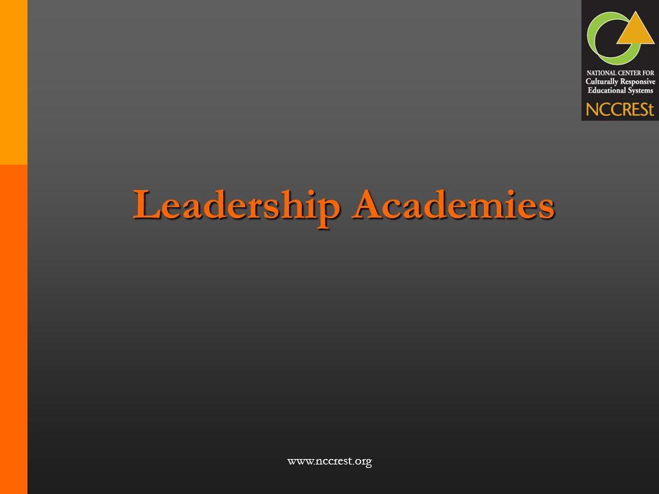 Leadership Academies www.nccrest.org