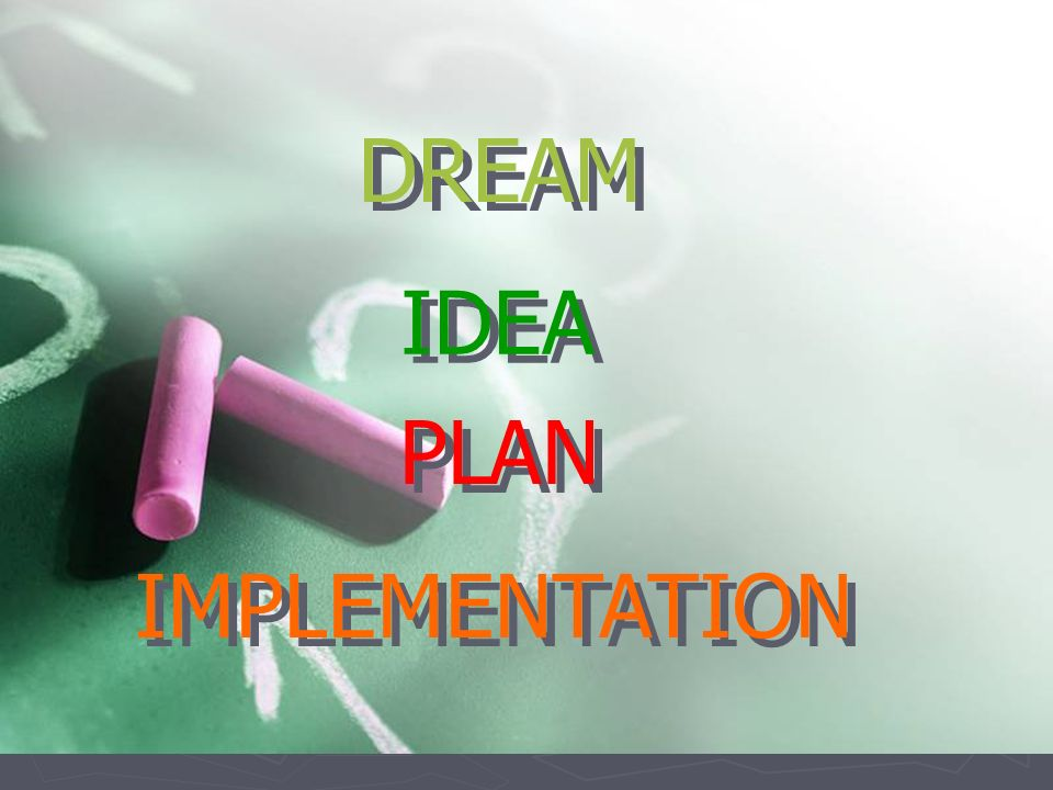 DREAM IDEA PLAN IMPLEMENTATION