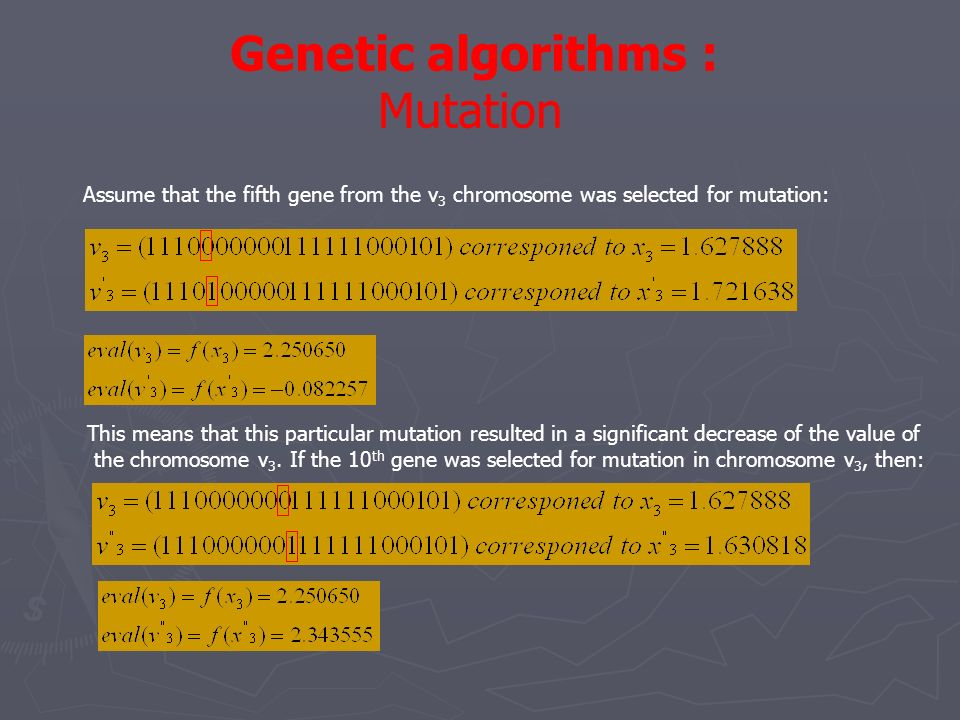 Genetic algorithms : Mutation