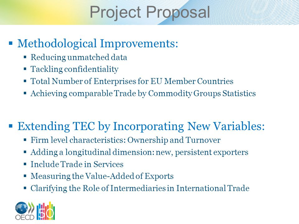 Project Proposal Methodological Improvements: