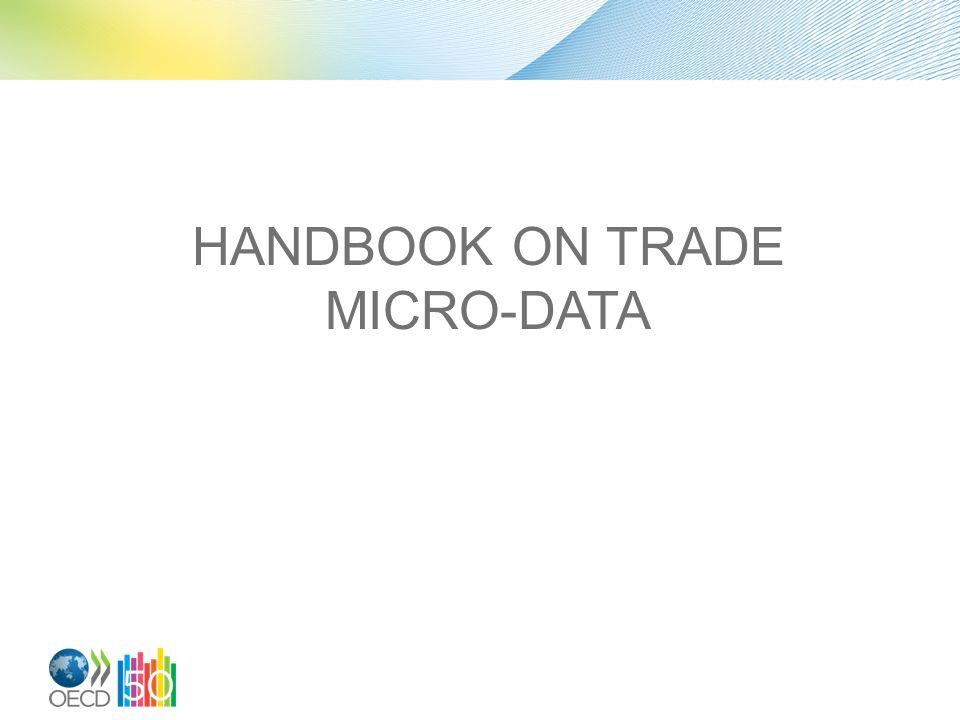 HANDBOOK ON TRADE MICRO-DATA