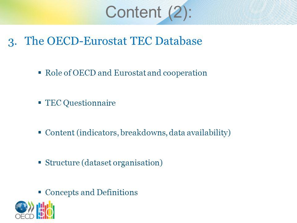 Content (2): The OECD-Eurostat TEC Database