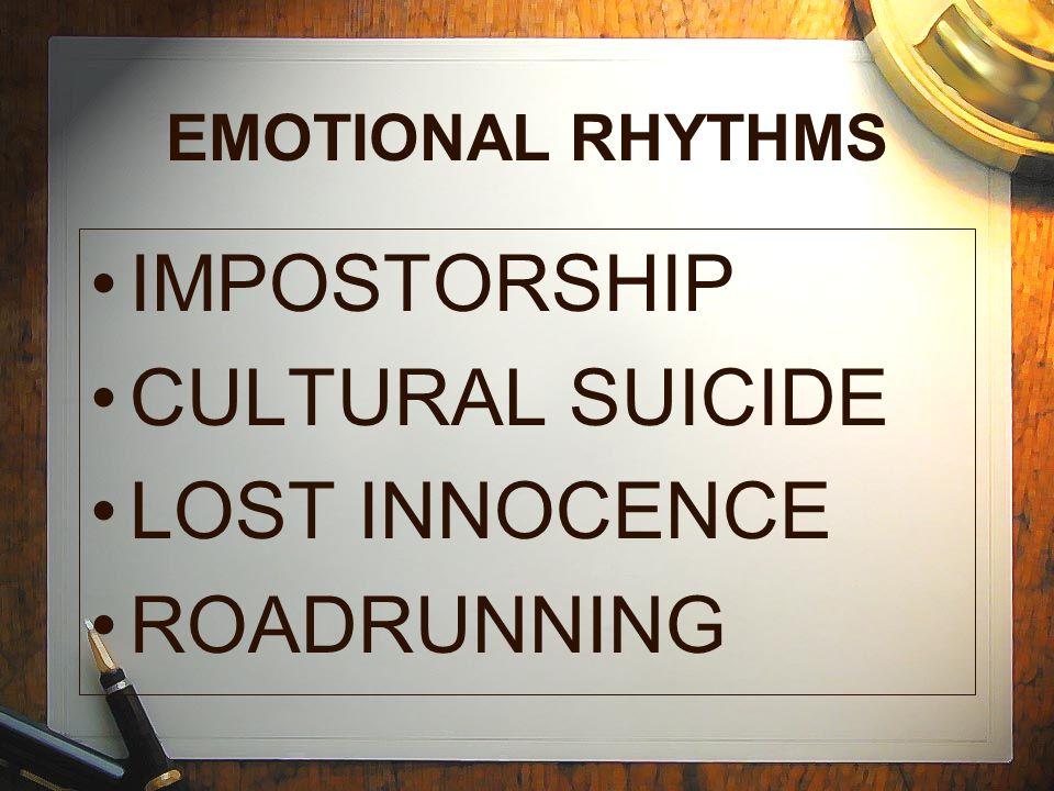 IMPOSTORSHIP CULTURAL SUICIDE LOST INNOCENCE ROADRUNNING